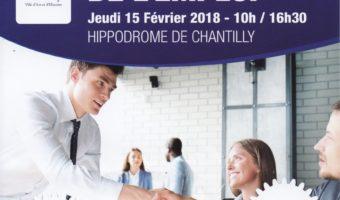 Jeudi 15 février, Forum de l'emploi à l'hippodrome de Chantilly, de 10h à 16h30…
